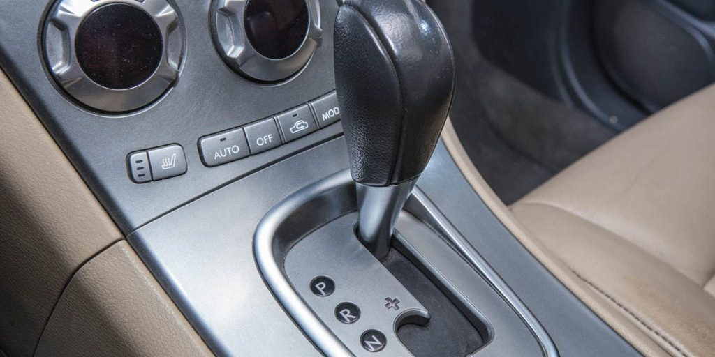 lever of transmission of expensive prestigious car